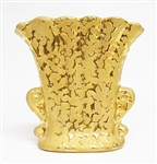 WEEPING BRIGHT GOLD VASE