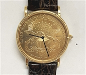 CORUM MENS $20 GOLD PIECE COIN WATCH