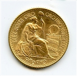 GORGEOUS MINT STATE 1965 10 SOLES PERUVIAN GOLD COIN