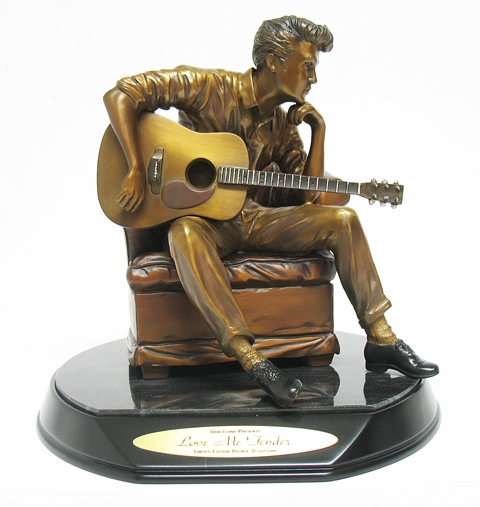 "LIMITED EDITION FRANKLIN MINT BRONZE ""LOVE ME TENDER"""