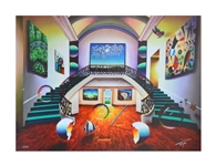 FERJO ** DUAL GREEN STAIRWAYS TO THE MASTERS ** SIGNED CANVAS